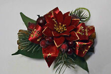 """CHRISTMAS MINI CINNAMON STICK BUNDLES INFUSED WITH """"CINNAMON SPICE"""" OIL RED GOLD"""