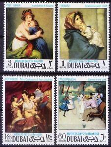 Dubai 1968 MNH 4v, No Gum Painting, Mothers Day, Madonna, Ferruzzi,