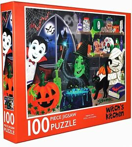 Halloween Puzzle for Adults 100 Piece | Witch's Kitchen Jigsaw Puzzles for Kids
