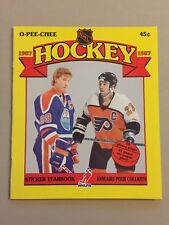 1987 O-PEE-CHEE OPC NHL EMPTY STICKER ALBUM - WAYNE GRETZKY COVER - MINT!!