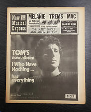 NME Magazine Feat Tom Jones: October 31st 1970