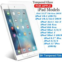 Tempered Glass Film Screen Protector for iPad 234 Mini Air Pro 11 10.2 10.5 2019