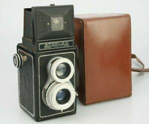 ATOFLEX TLR Camera 75mm f4.5 Angenieux Lens Type U1 & 70mm f3.3 Z5 120 film 6x6