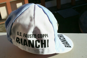 New Bianchi coppi Vintage Team Cycling Cap - Made in Italy