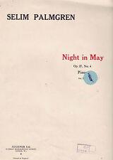 SELIM PALMGREN Night In May / Sheet Music