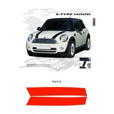 Mini Cooper Cooper S Style Hood Stripes Graphic Kit - Red