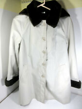 Vintage Fitz Hooded Coat Jacket Faux Fur Original Union Made Usa Cat Tag Size Xl