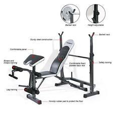 TOMSHOO Weight Lifting Bench Fitness Home Gym Strength Multi Station Training