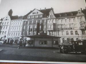 Schlesien 2AK LIEGNITZ Bahnhofsplatz Kiosk Hotels, Gesamtansicht, Nachdruck