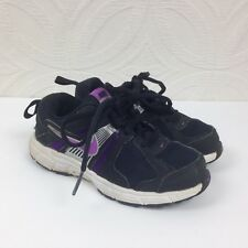 406d07374cf9cd Girls NIKE Dart 10 Black Purple Lace Up Running Motion Fit Shoes Child Size  11C