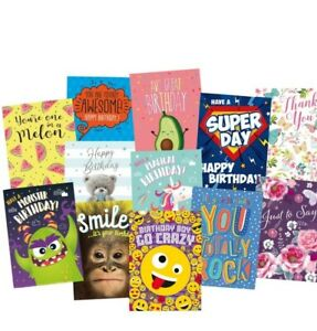 WHOLESALE GREETINGS & BIRTHDAY CARDS X 120 £14.99 ALL NEW with ENVELOPES JOB lot
