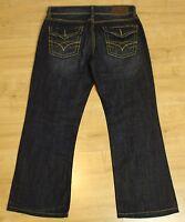 """SEVEN7 Ladies Blue Denim Bootcut JEANS - Size Waist 34"""" - Leg 28"""" - SEVEN 7"""