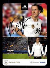 Verena Faißt  DFB Autogrammkarte 2011 Original Signiert+A 133060