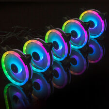 1 Pack RGB LED Quiet Computer Cases PC Cooling Fan 120mm with Remote ControlA