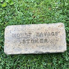 Antique Reclaimed Fire Brick Stamped Mount Savage Stoker Incised Early Maryland