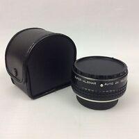 Super Albinar Auto 2X Tele Converter Lens in Faux Leather Case Yashica