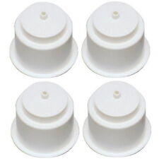4 Recessed Mount White Plastic Drink Holders for Boats - Fits 3-3/4 Inch Hole