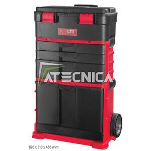 Trolley portautensili KRINO LTI con 3 moduli attrezzi e cassettiere divisibili