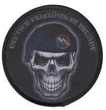 DEUTSCH-FRANZÖSISCHE BRIGADE SKULL Aufnäher/Patch Bundeswehr/Reservist/BW/Army