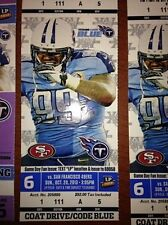 2013 SAN FRANCISCO 49ERS VS TENNESSEE TITANS TICKET STUB 10/20/13