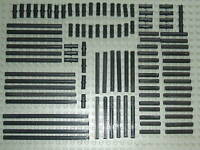 Lego Technic 100 x Black Axle & Pin Set a good selection of different sizes