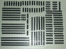 Lego Technic 100 x Black Axle & Pin Set a very good selection of different sizes