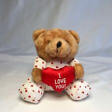 Vintage Avon Li'l Darling Bear with Red I Love You Heart Plush Animal