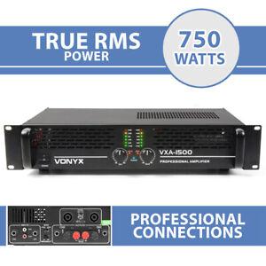 "VXA-1500 DJ Power Amplifier 2 Channel Stereo & Bridge PA 19"" 1U 750w RMS"