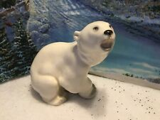 Vintage Polar Bear Figure Lomonosov Porcelain Ussr Christmas