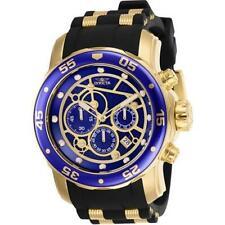ed0a7d8cb66 New ListingInvicta Men s Pro Diver Scuba Gold-Tone Watch with Blue Dial  25707 Chronograph