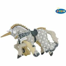 Genuine Papo Knights. Horse of knight unicorn 39916