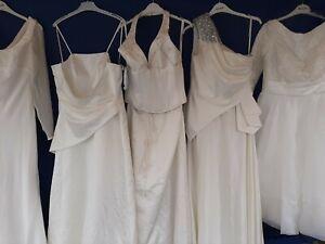 JOBLOT 5 X BRIDES WEDDING FULL LENGTH DRESSES .PARTY PROM FANCY DRESS #3