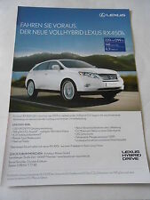 Publicité 2010  Lexus RX 450h Hybrud Drive AD