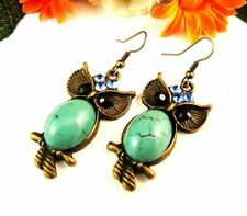Turquoise Brass Drop/Dangle Fashion Earrings