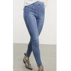 Free People Feel Alright Skinny Jeans Size 30 Riptide Blue Stretch Denim New