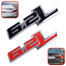 Black /Red 6.2L LOGO 3D Car Body Badge Decal Fender Trunk Emblem Sticker Decor