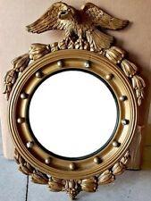 Rare Antique Hagemann Gilt Mirror Federal Eagle Bulls Eye Round Regency