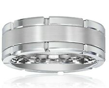 Triton Mens Tungsten 8mm Contemporary Wedding Band, Size 9