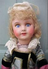 Antique Doll Painted Bisque France French Bretagne Costume 18 in A Beauty