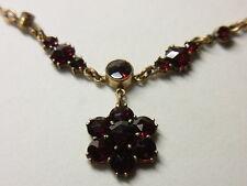 Gründerzeit Granatkette Kette Collier Granat Necklace Double Gold Böhmen Nr.137