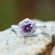 Color Change Alexandrite Engagement Ring Sterling Silver 925  Size 6