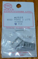 SS Ltd. HO #2523 Wood Frame 2 Lite Window (4 pcs)