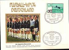 FDC FUSSBALL-WM74 DEUTSCHALND SOCCER MUNCHEN 1974 CAMPIONATO DEL MONDO C4-671