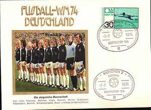 FDC FUSSBALL-WM74 DEUTSCHALND SOCCER MUNCHEN 1974 CAMPIONATO DEL MONDO