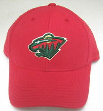 NHL Minnesota Wild Red Structured One Size Fits All Adjustable Hat By Reebok