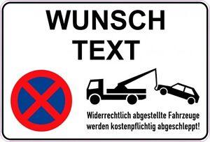 Aufkleber Parkverbot-Wunschtext 300x200mm inkl. UV-Schutzlaminat