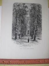 Vintage Print,TRINITY COLLEGE AVE,Picturesque Europe,1875