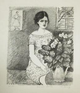 A fine original lithograph by Nicolai Cikovsky,pencil signed, c. 1930's