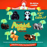 McDonald's Animal Pals Complete Set of 6 MIP Happy Meal Toys - 1997