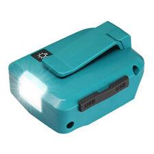 USB Power Source w/ LED Light 2 USB Ports For Makita 14.4-18V Li-ion LXT Battery
